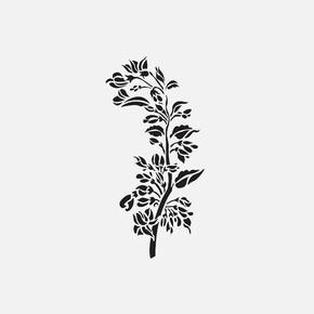 35X50Cm Zen Bahçeleri Sakura Stencil