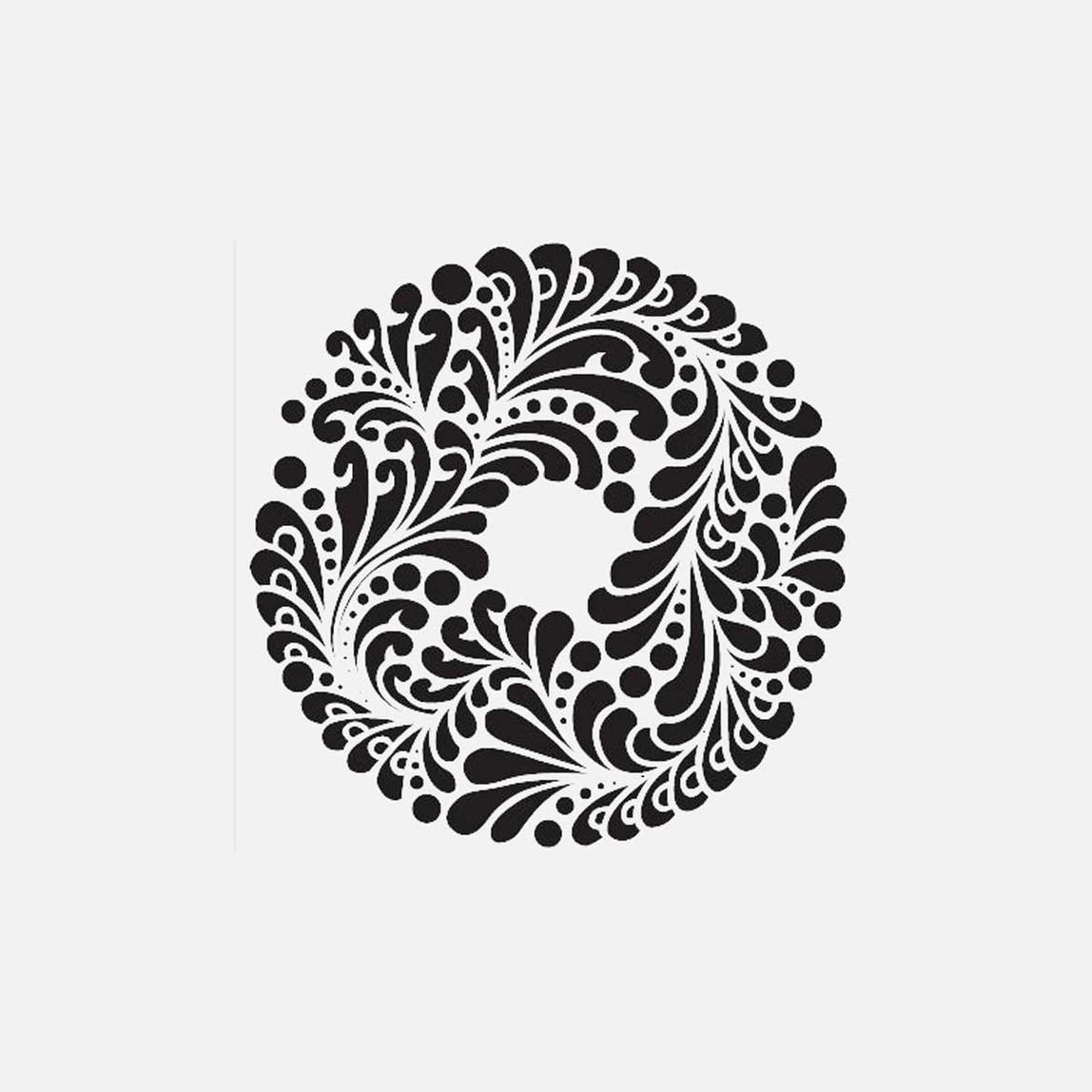 45X45Cm Fas Avluları Mandala Stencil