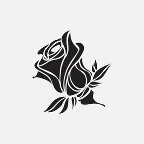 33X33Cm Doğa Motifleri Rose Stencil