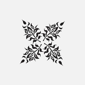 22X22Cm Hindistan Damaks Oriental Stencil