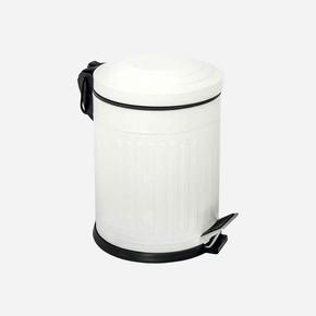 Vintage Çöp Kovası Beyaz 5lt