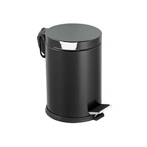 Vintage Çöp Kovası Siyah 12lt