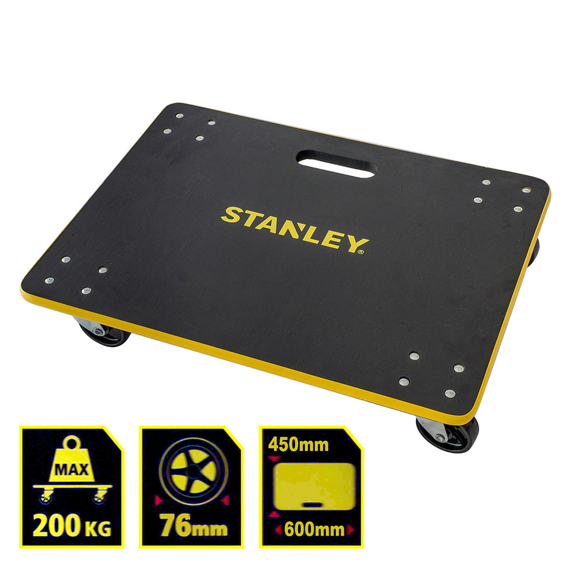 Stanley MS573 200kg 60x45cm Dört Tekerli Yük ve Paket Taşıma Arabası