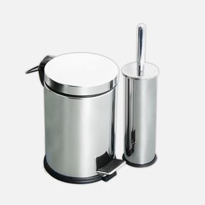 2li Banyo Seti Pedallı Çöp Kovası ve Wc Fırçası
