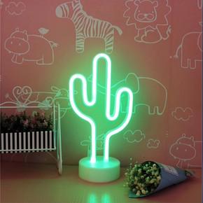 Petrix 89007K Mini 20cm Kaktüs Neon Mini Dekoratif Aydınlatma