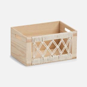 Storage Box Boho Wood 30x20x16cm
