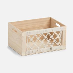 Storage Box Boho Wood 35x25x18cm