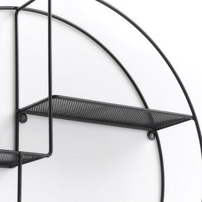 Metal Duvar Rafı Siyah Q55x12cm