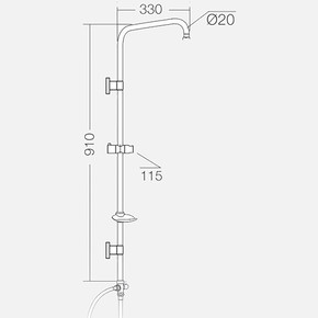 6977r Duş Sistemi Rose