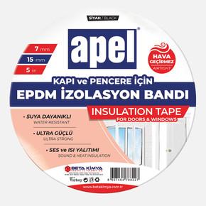 Apel EPDM Bant ( Kauçuk Bant) Poşet 7mm x 15mm x 5m Siyah