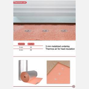 3 mm Metalize Delikli Şilte 25 m2 Yerden Isıtma Uygun