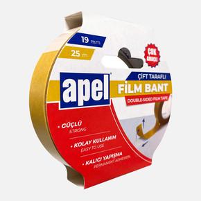 Apel Çift Taraflı Film Bant Askılı Karton 19mm X 25m Şeffaf