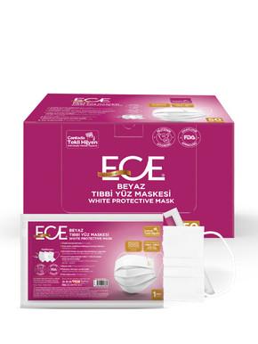 ETZ-484 50'li Tıbbi Maske Beyaz