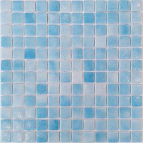 31,5x31,5 cm Cam Mozaik Havuz H101 Açık Mavi