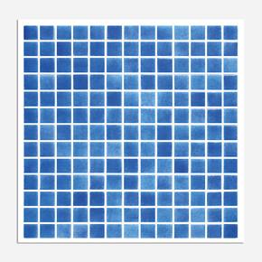 31,5x31,5 cm Cam Mozaik Havuz H102 Koyu Mavi