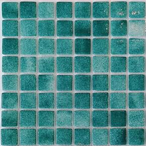 32x32 cm Cam Mozaik Havuz Yeşil H104