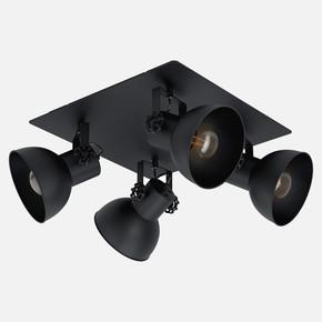 Barnstaple Siyah Spot 4X40W E27