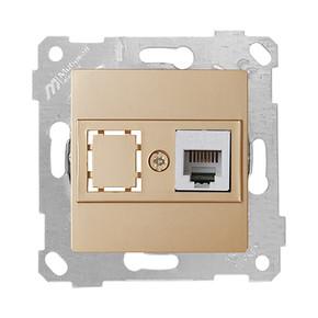 Rita Mekanizmalı Tuş Telefon Prizi 1XRj12 Dore