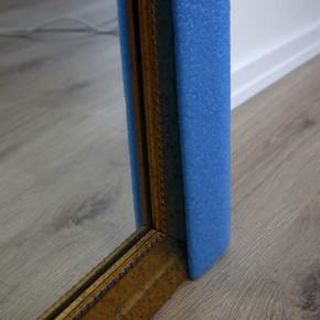 U40 Profil İnce 1 Metre 10x60mm Mavi