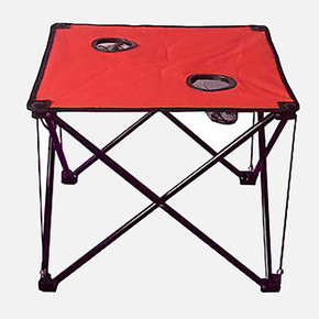 And Katlanabilir Kamp Masası Kırmızı