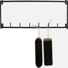Metal Duvar Rafı Siyah M 35x10x15H cm