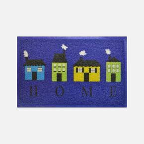 40x60 cm Mavi Evler Kıvırcık Paspas