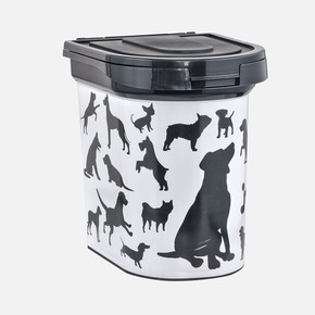 PlastArt PT-280 Evcil Hayvan Mama Saklama Kabı Siyah