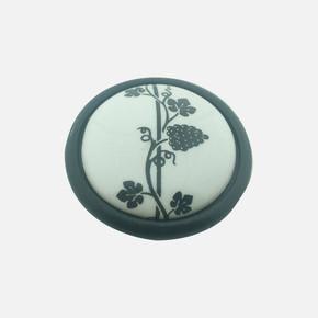 Göreme Düğme Siyah Porselen Kulp