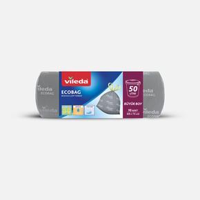 Vileda Büzgülü Çöp Torbası Büyük 10lu-50 Litre