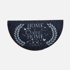 Megan Kapı Paspası Yarımay Gri Home Sweet Home
