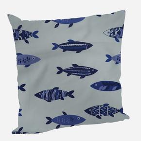 Yastık Kılıfı Fishes Mavi 45x45cm