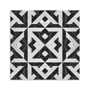 Pvc Karo Mermer Siyah Beyaz 30x30cm