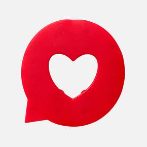 Küvet İçi Paspas 5li Love Kırmızı
