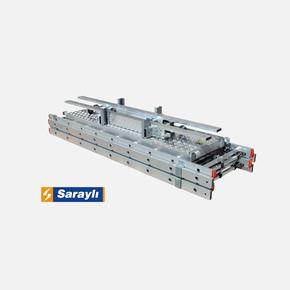 Saraylı Mega Alüminyum İskele2x7 Basamaklı 2x2 - 4 Metre