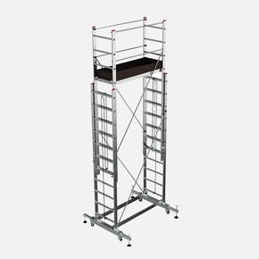 Saraylı Mega Alüminyum İskele2x9 Basamaklı 2x2,5 - 5 Metre