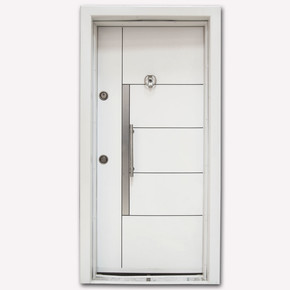 Kromlu Laminoks İnci Serisi Çelik Kapı KY513