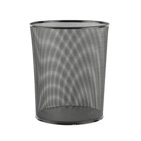 Regalux File Delikli Metal Çöp Kovası Siyah
