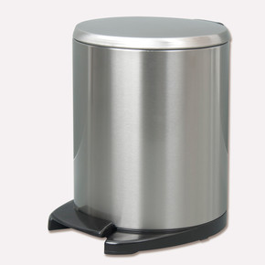 Cigo Pedallı Çöp Kovası 6 Lt Beyaz İç Kısım Gri