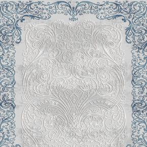 Konforia 8501T Ebatlı Halı Mavi