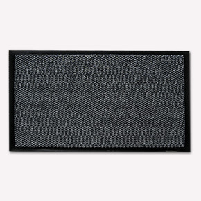 Şimşek Ebatlı PVC Paspas Gri Siyah