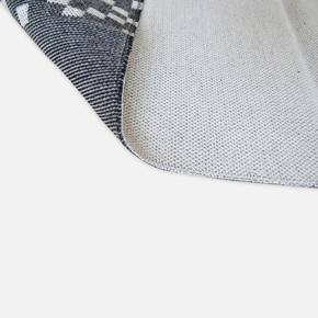 Mina Kilim 63x120 cm Antrasit Bordür