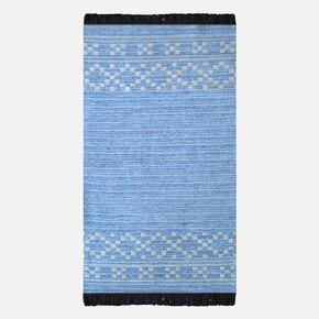 Mina Kilim 63x120 cm Mavi Bordür